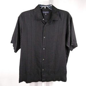 Banana Republic Black 100% Linen Short Sleeve | 14